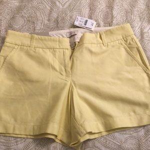 J Crew summer yellow shorts